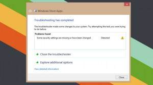 Microsoft app troubleshooter finds and solves the problems