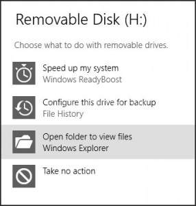 Removable disk in windows 8