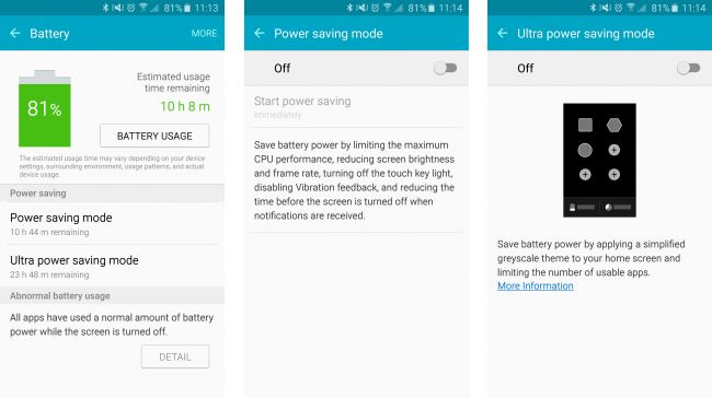 Galaxy S6 Battery saver