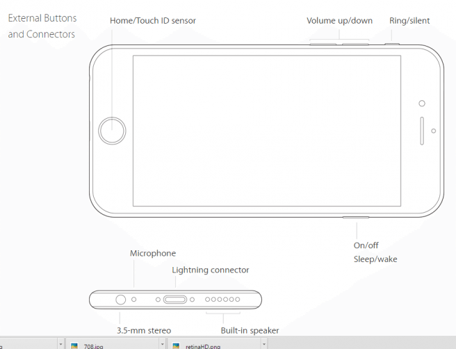 Apple iphone 6s plus Design and Buttons