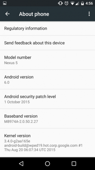 Android 6 Visual Changes